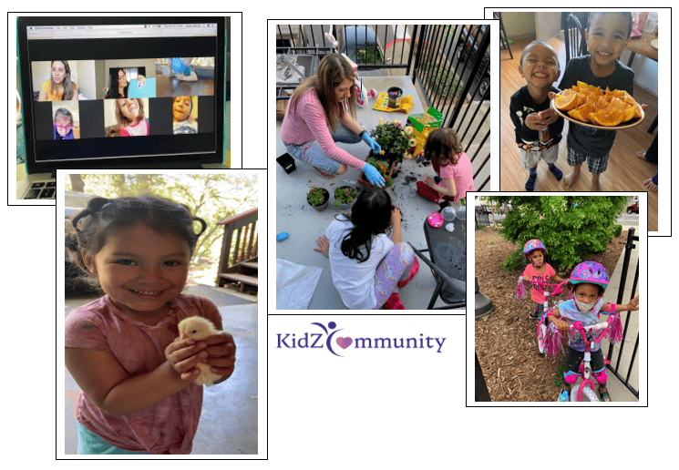 What does distance learning look like for our KidZCommunity Head Start and Early Head Start Families?